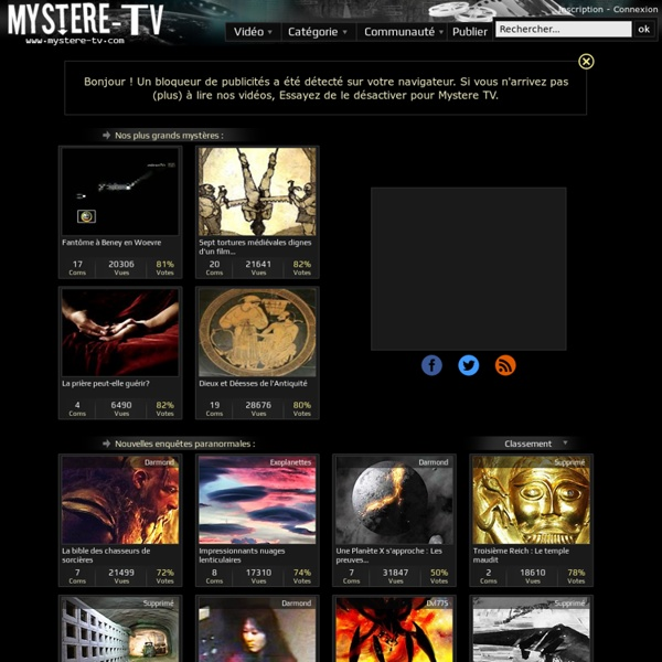 Paranormal - Ovni - Mystere TV