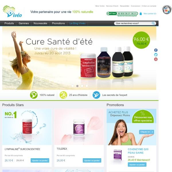 Vivéo - La parapharmacie en ligne 100% naturelle