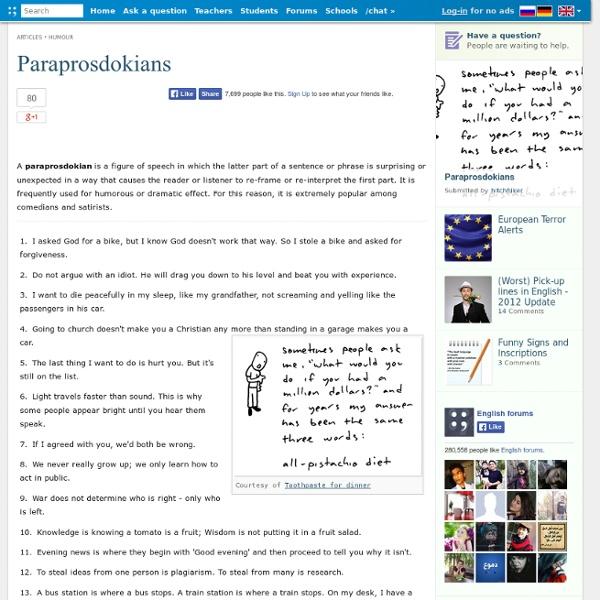 Paraprosdokians - 37 Examples