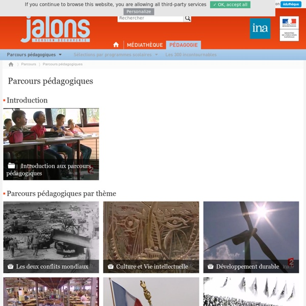 Ina Jalons (documents audiovisuels téléchargeables de 1914 à nos jours, issus de la presse filmée, de la télévision et de la radio.)