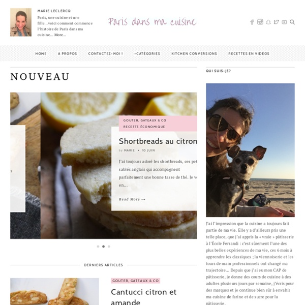 Un blog de recettes de cuisine, tendances, faciles mais surtout gourmandes, réalisées par Marie Leclercq