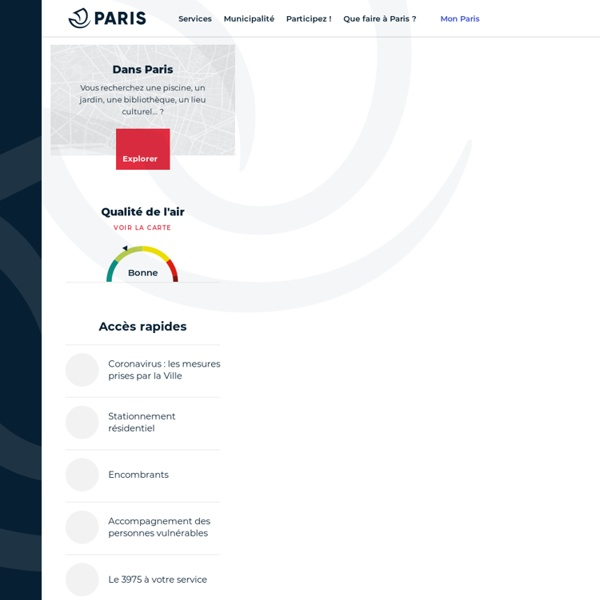Mairie de Paris : site officiel de la ville de Paris – Paris.fr