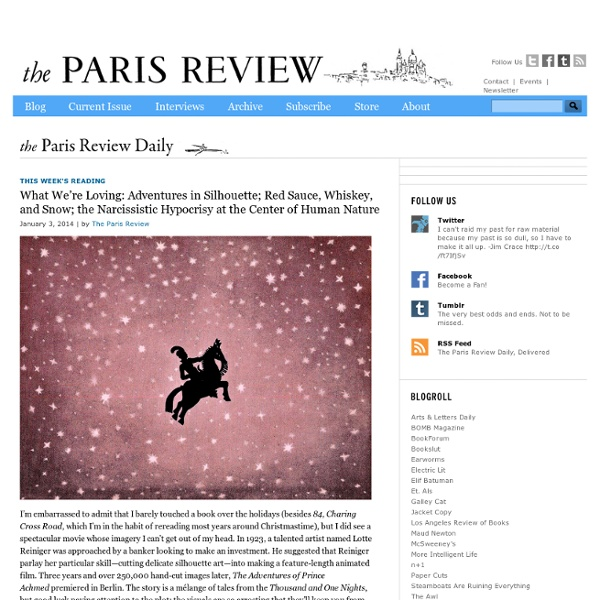 Paris Review Daily - Blog, Writers, Poets, Artists - Paris Review