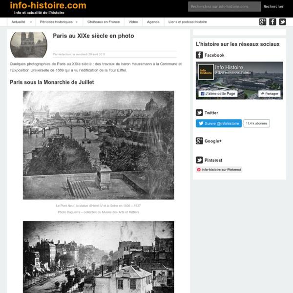 Paris au XIXe siècle en photo