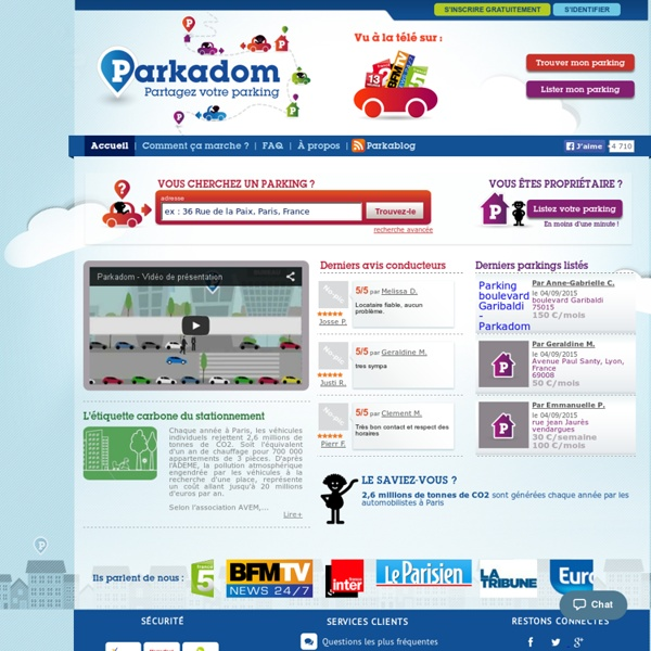 Parkadom - Partagez votre parking