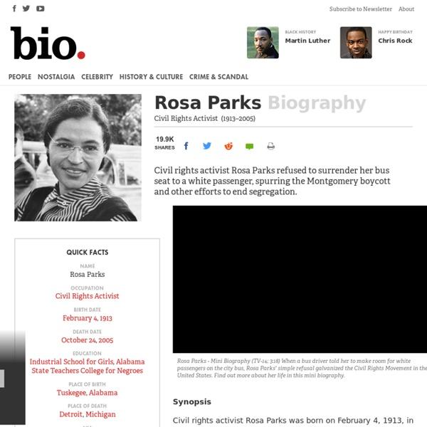 Rosa Parks - Civil Rights Activist