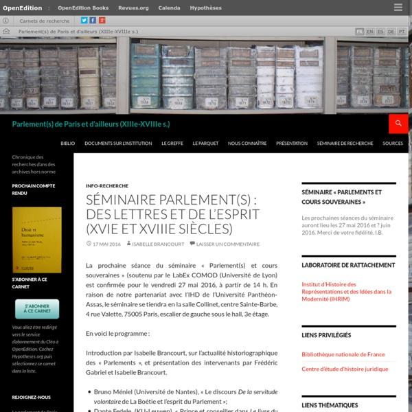 Chronique des recherches dans des archives hors norme