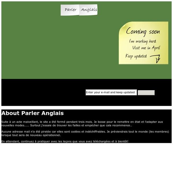 Parler Anglais - AUDIO GRATUITS