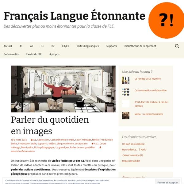 Français Langue Etonnante ?! Parler du quotidien en images