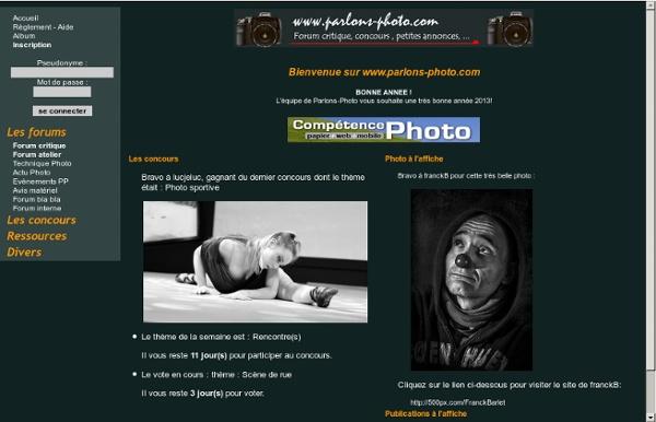Parlons Photo - Forum photo