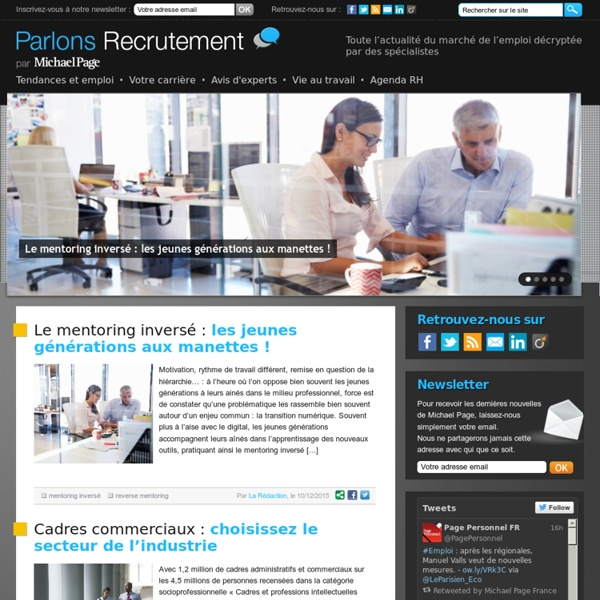 Parlons Recrutement, par Michael Page International