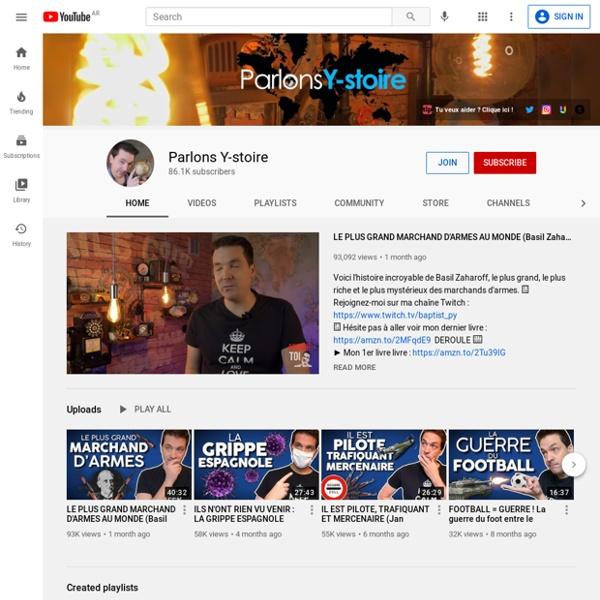 Parlons Y-stoire - chaîne YouTube