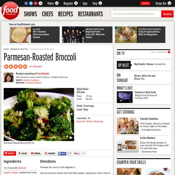 Parmesan-Roasted Broccoli Recipe : Ina Garten