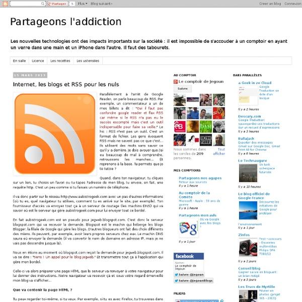 Internet, les blogs et RSS pour les nuls