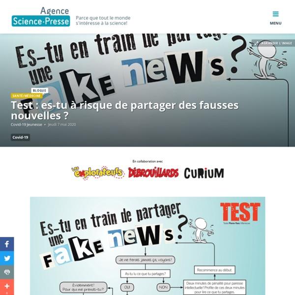 Test : es-tu à risque de partager des fausses nouvelles ?