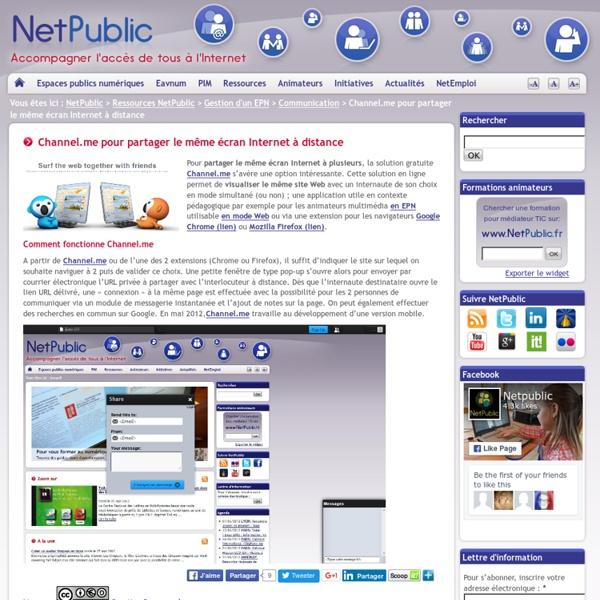 Channel.me partage du même écran Internet