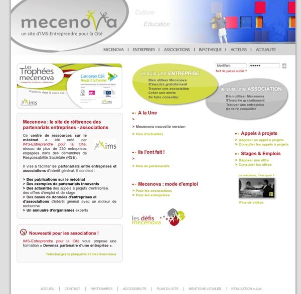 Mecenova : le site de référence des partenariats entreprises - associations