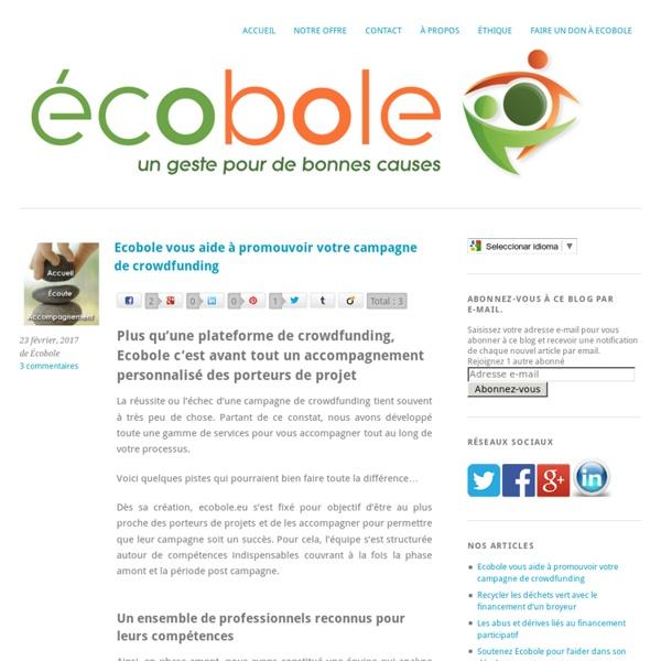 Premier site de crowdfunding écologiqueécobole
