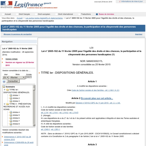 LOI DE 2005
