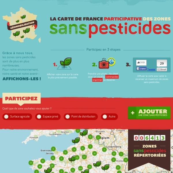 La carte de France participative des Zones sans Pesticides
