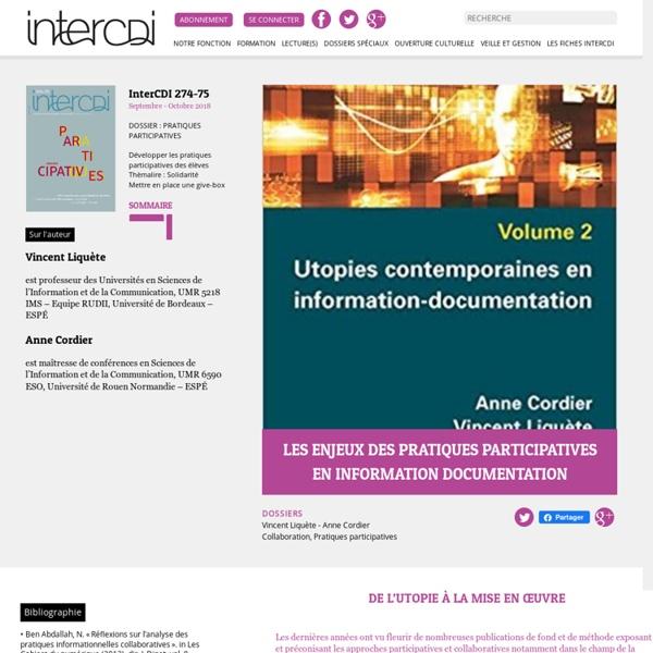 Les enjeux des pratiques participatives en information documentation