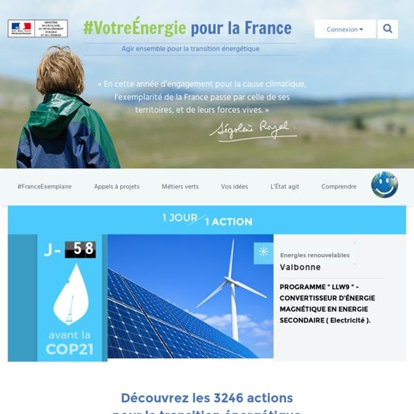 Votre energie pour la france.: Participez à la transition énergétique pour la croissance verte