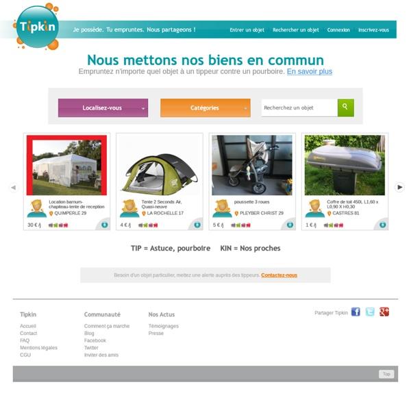 tipkin location d 39 objet entre particulier une plateforme communautaire pour tout emprunter. Black Bedroom Furniture Sets. Home Design Ideas