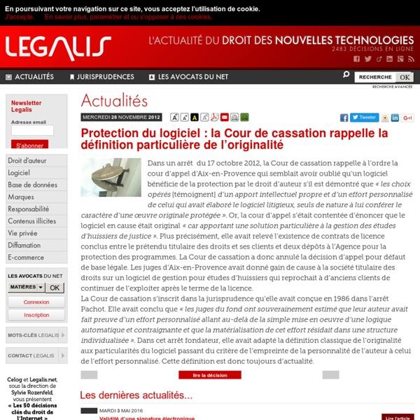 Protection du logiciel: la Cour de cassation rappelle la définition particulière de l'originalité
