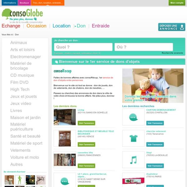 ConsoGlobe annonces et don gratuit