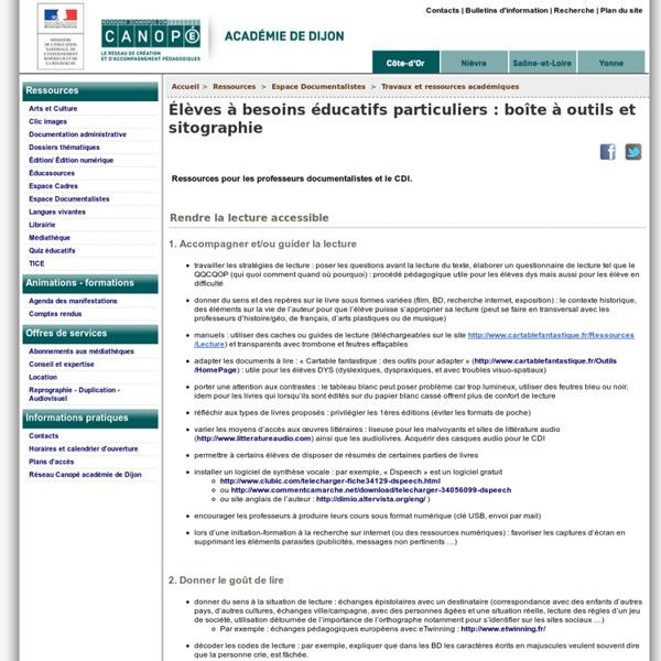 Élèves à besoins éducatifs particuliers et prof-doc