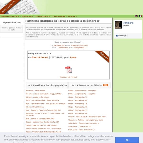 Partitions gratuites sur Lespartitions.info