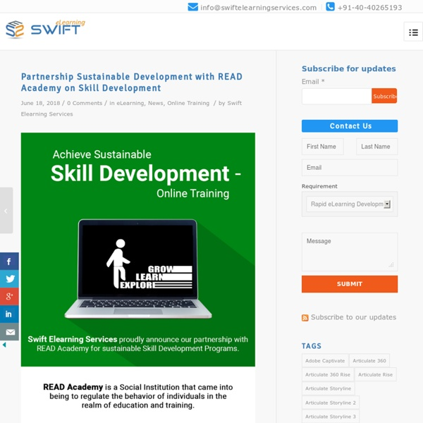 Partnership Sustainable Development with READ Academy on Skill Development