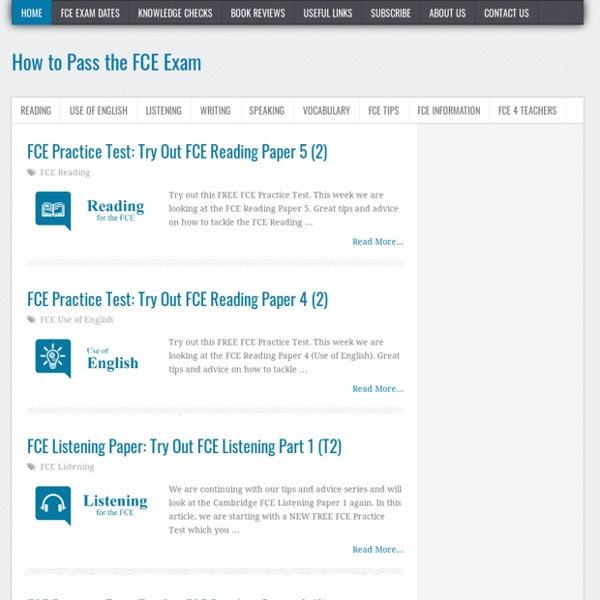How to Pass the FCE Exam