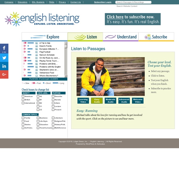 Listen to Passages « English Listening