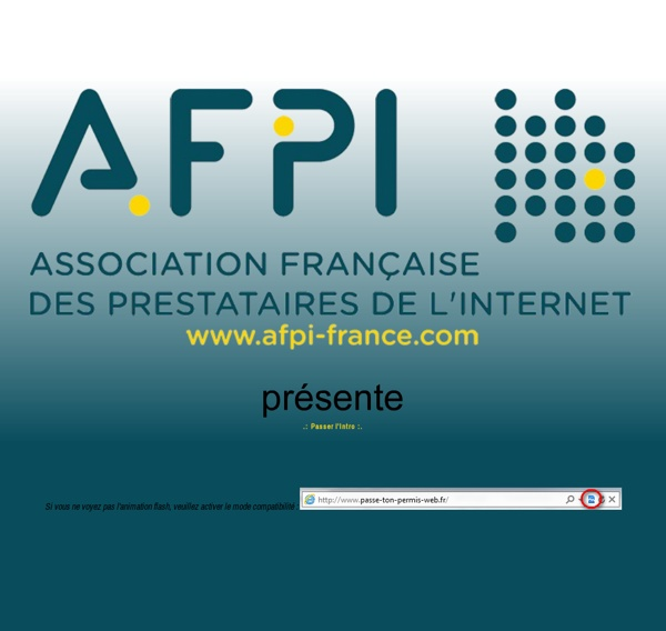 Passe ton permis web - Quizz AFA