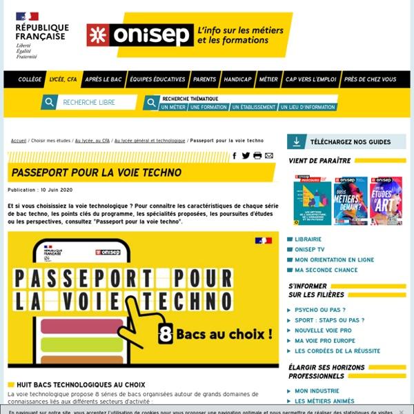 Passeport pour la voie techno