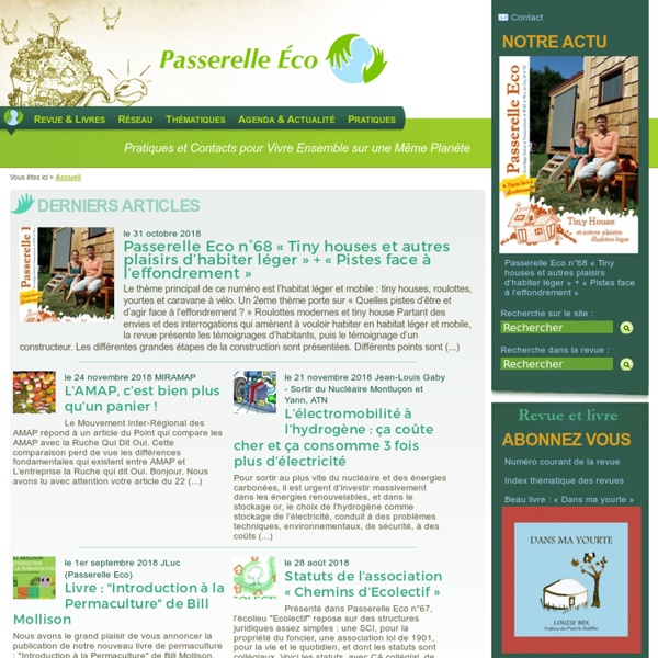 Passerelle Eco - Ecovillage Global et Permaculture
