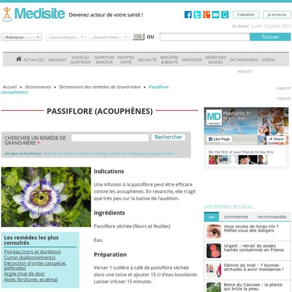 Passiflore (acouphènes)