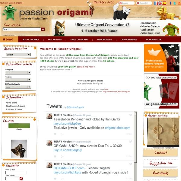 Passion Origami - Diagrammes gratuits, actualités de l'origami, galeries et encore plus ....