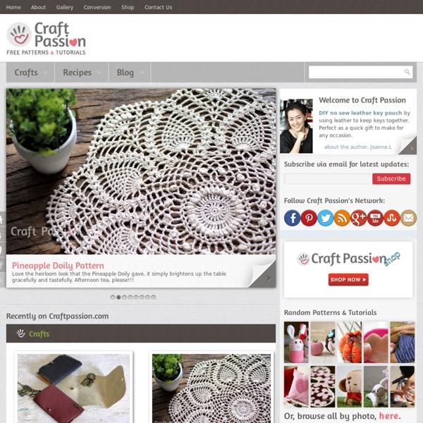 Craft Passion: Free DIY Craft Patterns & Tutorials