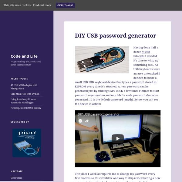 DIY USB password generator » Code and Life