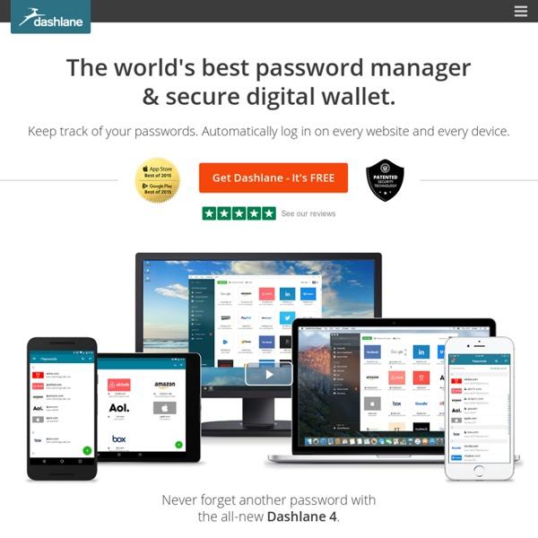 Best Password Manager, Free Form Filler, Secure Digital Wallet
