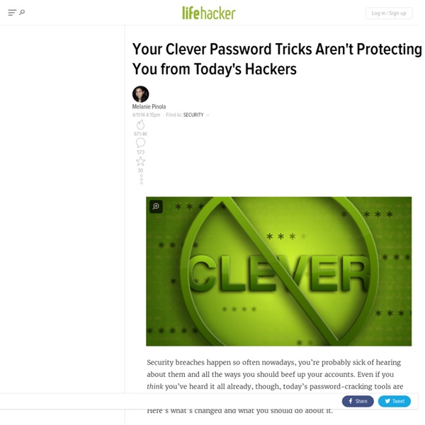 Your Clever Password Tricks Aren't Protecting You from Today's Hackers