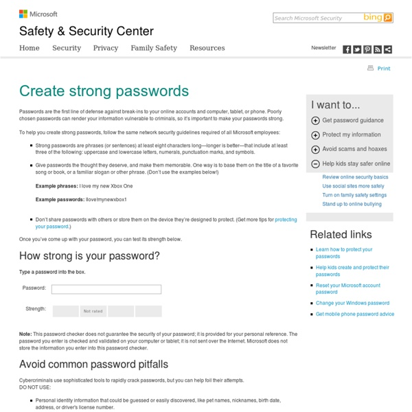 Password Checker: Using Strong Passwords