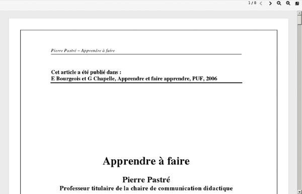 PASTRE_Apprendre_a_faire