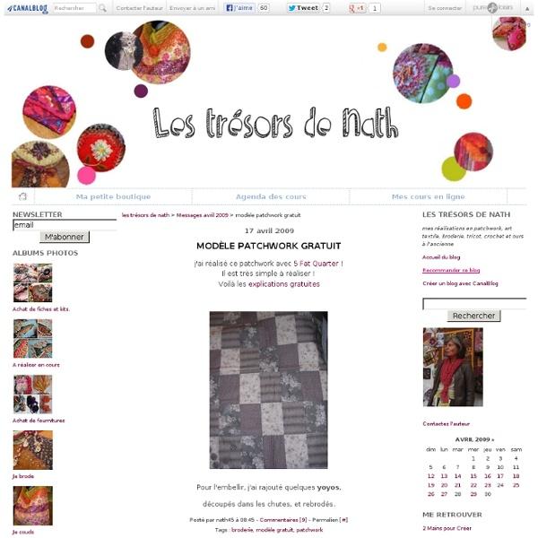 Modèle patchwork gratuit - les trésors de nath