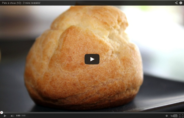 Pate à choux (V2) - 3 mins inratable!