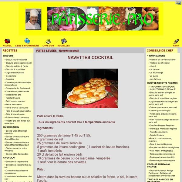 Pâtisserie . Pro - PÂTES LEVEES - Navette cocktail