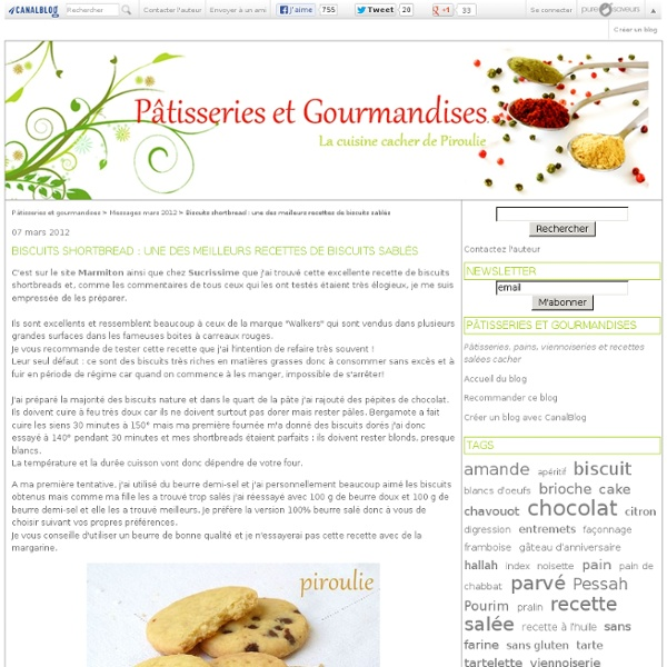 Biscuits shortbread : une des meilleurs recettes de biscuits sablés