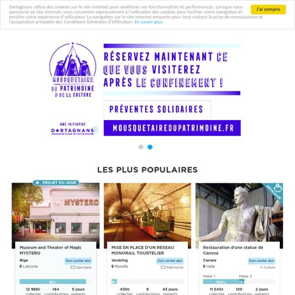 Dartagnans - Préserver le patrimoine grâce au crowdfunding